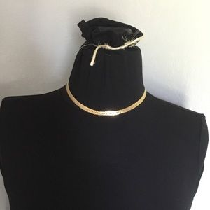 Gold necklace Monet 17in